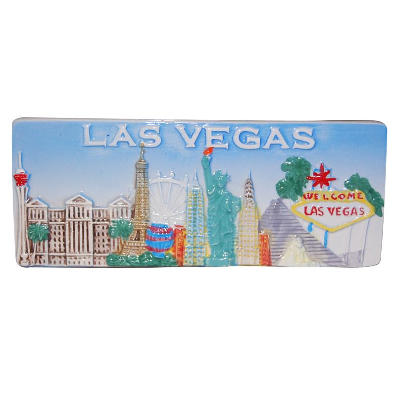 Las Vegas Fridge Magnet Embossed Ceramic Tile