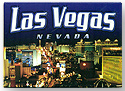 Las Vegas City Lights Postcard Magnet