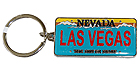 Las Vegas Souvenir Key Chain - Nevada License Plate