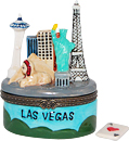 Las Vegas City View Trinket Box