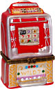 Las Vegas Souvenir Lucky Slot Machine - Porcelain Trinket Box, 3.5 H