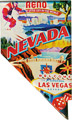Nevada Scenes State Map - Large Acrylic Magnet