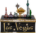 Las Vegas Skyline Enamel Jeweled Trinket Box