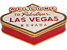 Welcome to Las Vegas Sign - Enamel Jeweled Trinket Box