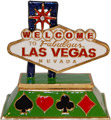 Welcome to Fabulous Las Vegas Sign - Enamel Jeweled Trinket Box