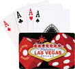 Las Vegas Playing Cards, Red Dice & Vegas Sign
