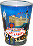 Las Vegas Strip Photo Shot Glass