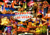Las Vegas Night Life Postcard, 4L x 6W