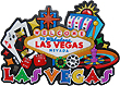 LV Fridge Magnet, Collage of Las Vegas Casino Icons
