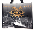 Las Vegas Black and White Skyline Recycled Tote