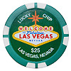 Las Vegas $25 Lucky Poker Chip Magnet, Green