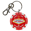 Las Vegas Key Chain, Lucky Poker Chip Red