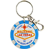Las Vegas Key Chain, $1 Lucky Poker Chip Blue