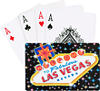 Las Vegas Playing Cards, Black Sign