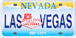 Las Vegas Miniature License Plate Magnet