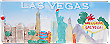 Las Vegas Fridge Magnet - Embossed Ceramic Tile