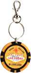 Las Vegas Key Chain with Clip, High Roller Chip