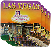 Las Vegas Sunset Square Coasters 4 Pcs