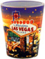 Las Vegas Night Lights Photo Shot Glass with Glitter
