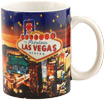 Las Vegas Night Lights Photo Mug with Glitter