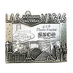 Las Vegas City Picture Frame, Pewter