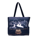 Las Vegas Black and White Skyline Tote