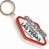 Las Vegas Sign Shaped Acrylic Key Chain with Glitter