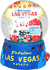 Las Vegas Casino Themed Snow Globe, 3.5H