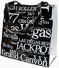 Las Vegas City B/W Letter Tote Bag, Small