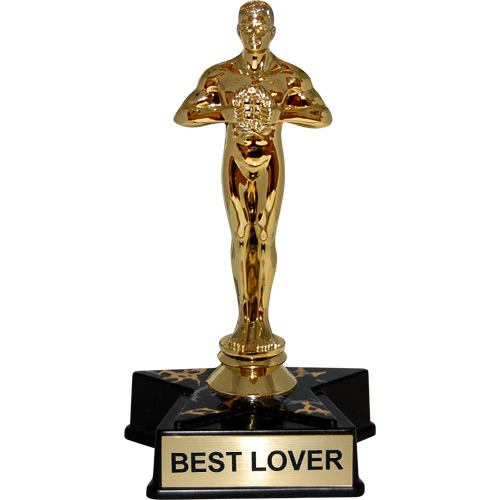 Hollywood Award Trophy Statue Reads Quot Best Lover Quot