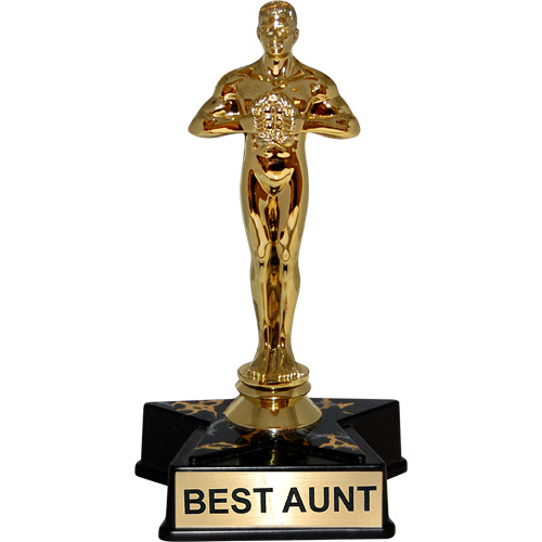 """Best Buy Hollywood >> Hollywood Award Trophy - Statue Reads """"Best Aunt"""""""