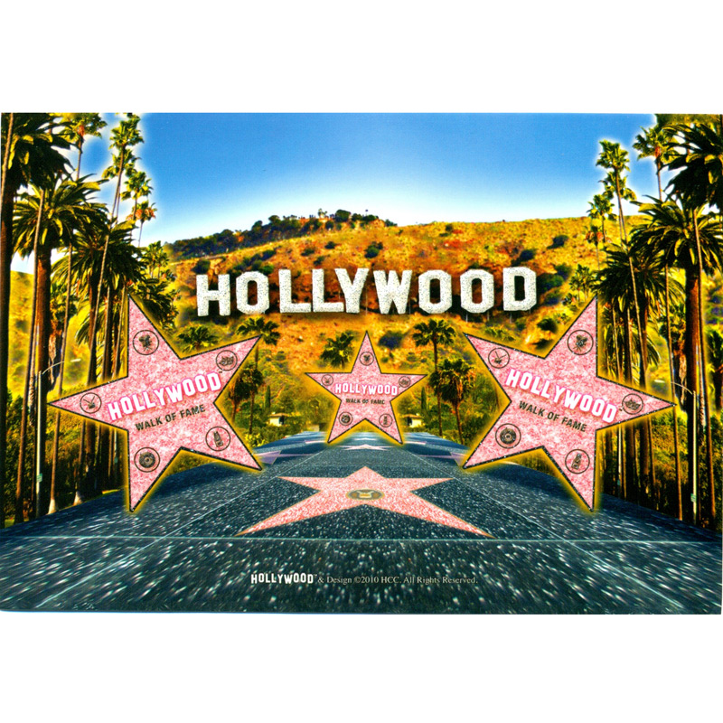 hollywood postcard 4l x 6w