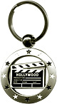 Hollywood Souvenir Clapboard in a Circle, Key Chain