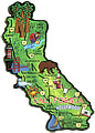 California State Map Wood Magnet