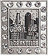 LA Downtown Skyscrapers - 3D Magnet with Rhinestones