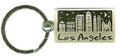 Los Angeles City Skyline Souvenir Keychain - Nickel Plated