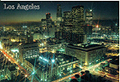 Downtown Los Angeles at Night Postcard, 4.5 L x 6.5 W