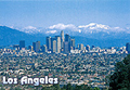 Los Angeles City Skyline Postcard, 4.5L x 6.5W