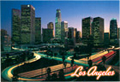 Los Angeles City Skyline Postcard, 4.5 L x 6.5 W