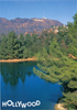Hollywood Reservoir with Hollywood Sign Postcard 6.5 L x 4.5 W