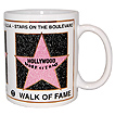 Hollywood Walk of Fame Souvenir Coffee Mug, White