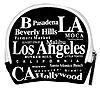 Los Angeles Gift - Coin Bag, Black/White Letter