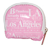 Los Angeles Gift - Coin Bag, Pink/White Letter