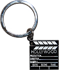 Hollywood Souvenir Director's Clapboard Key Chain (Black Nickel)