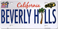 Beverly Hills Souvenir License Plate - 12 L