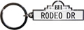 Beverly Hills Keychain - Rodeo Drive Street Sign