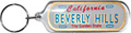 Beverly Hills Mini License Plate Key Chain