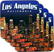 Los Angeles Souvenir Coaster Set