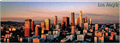 Los Angeles City Skyline Souvenir Magnet - Panorama