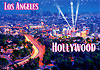 Los Angeles City Lights & Hollywood Postcard, 4L x 6W